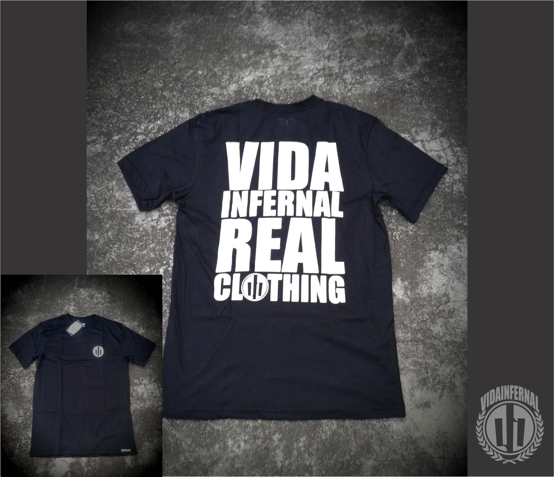 camiseta real clothing preta
