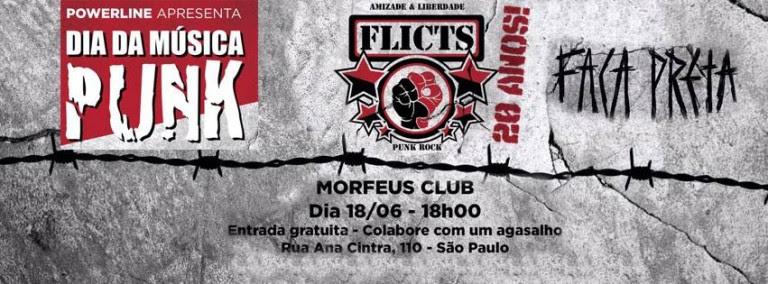 Flicts e Faca Preta no Morfeus Club, às 18h